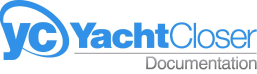 Yacht closer documentation logo with redirection